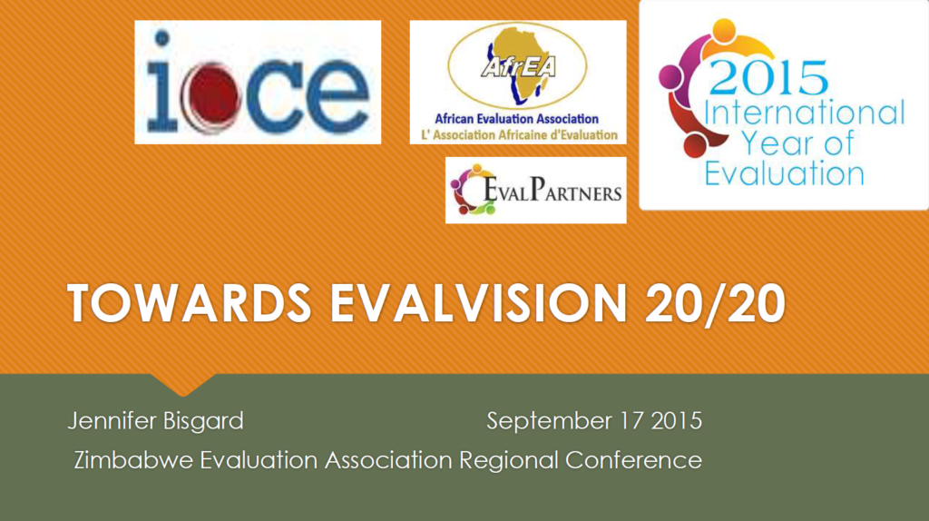 The International Year of Evaluation